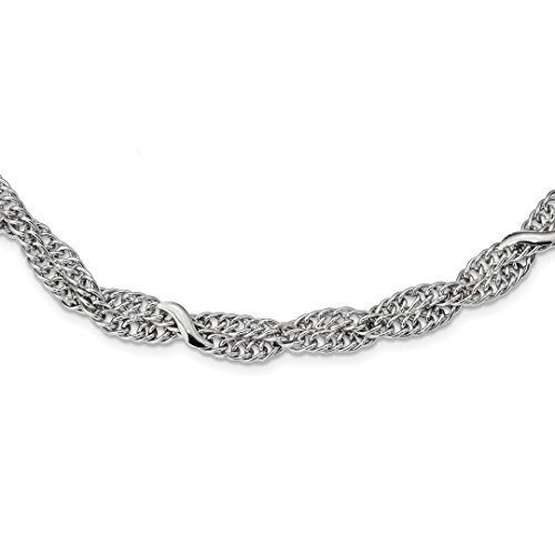 Link Necklace Designer Double (ICE CARATS 925 Sterling Silver Double Twisted Link Cable 2 Inch Extension Chain Necklace Fancy Fine Jewelry Ideal Gifts For Women Gift Set From Heart)