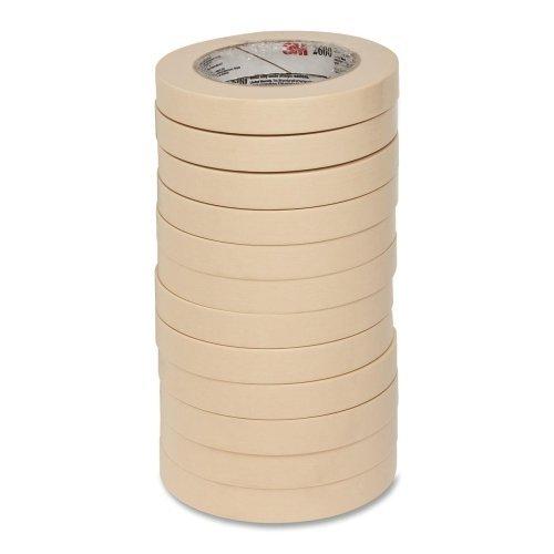 """3M Highland Economy Masking Tape-Economy Masking Tape, 3"""" Core Size, 12/PK, 3/4""""x60 Yards"""