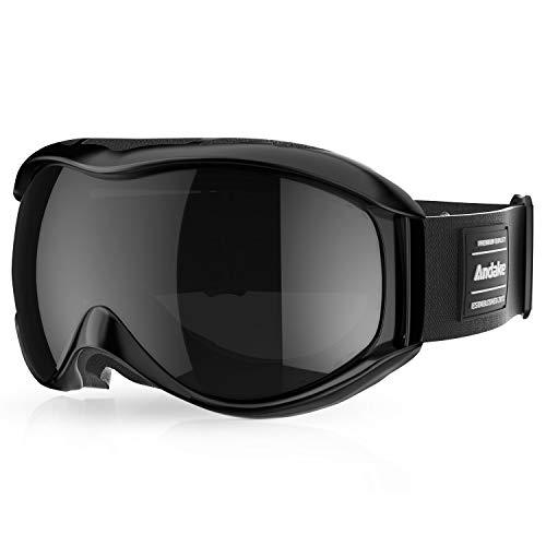 Andake OTG Ski Goggles Dual Lens Over Glasses Ski Snowboard Goggles Anti-Fog UV 400 Protection Snow Goggles Winter Outdoor Sports Protective Glasses