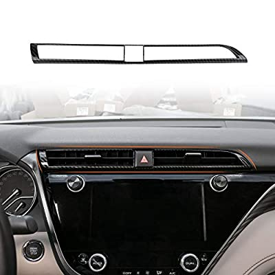 CKE for Toyota Camry 2020 2020 2020 ABS Central Control Air Vent Trim Wind Outlet Decoration Cover Sticker Carbon Fiber Style: Automotive