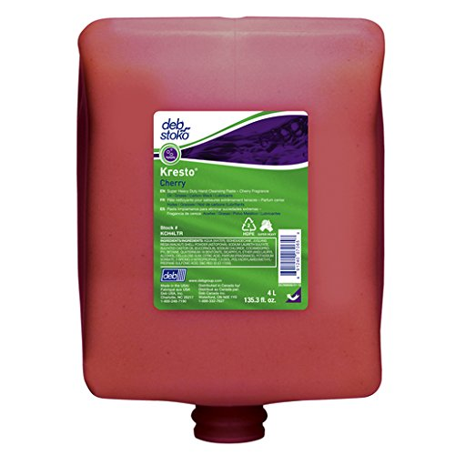 Deb Group 4 Liter Refill Red Kresto Cherry Scented Hand Cleanser (4)