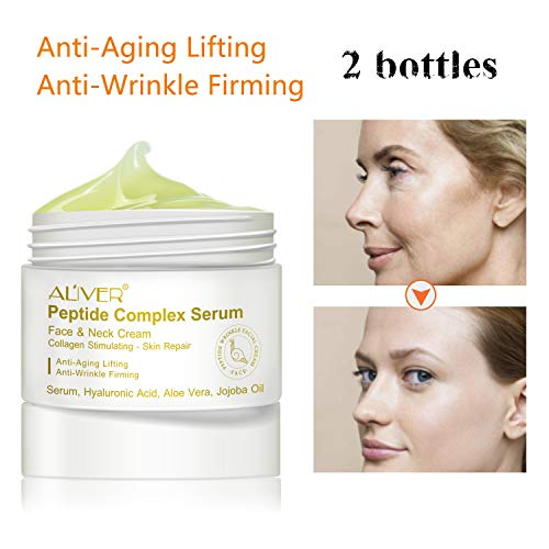 Peptide Wrinkle Cream,Anti-Wrinkle Cream,Anti aging serum,Collagen Peptides For Skin and Neck Moisturizer Cream Firming,Fights the Appearance of Wrinkles, Fine Lines,Best Day and Night (Best Fine Line Wrinkle Cream)