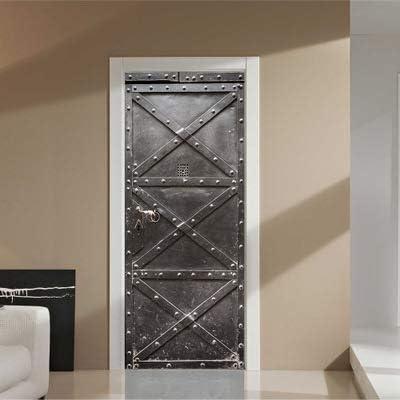 Pegatinas de Puerta Escalera de Piso de túnel 3D, DIY Autoadhesivo Impermeable Puerta Mural Pared Decoración para el hogar Cartel 77x200cm R: Amazon.es: Hogar