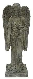 Hi-Line Gift Ltd Angel Standing & Holding Flowers Statue