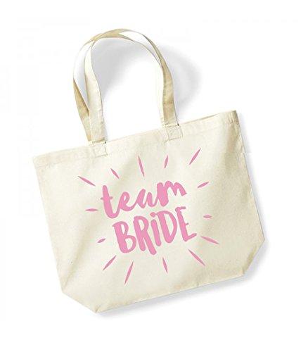 Unisex Slogan Natural Cotton Burst Tote Team pink Bride Bag Canvas 77rOqdw
