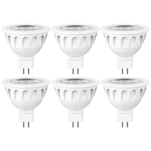 Mr16 Mini Reflector - Sunlite 41198-SU MR16 Mini Reflector Light Bulb Dimmable, LED, 12 Volt, UL Listed, Cooler to The Touch, 6 Pack, 40K - Cool White