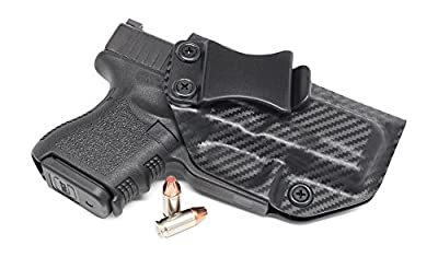 Concealment Express IWB KYDEX Holster: fits GLOCK 26 27 33 (Gen 1-5) - Custom Fit - US Made - Inside Waistband - Adj. Cant/Retention