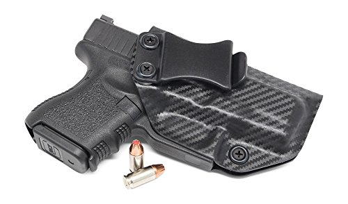 Concealment Express IWB KYDEX Holster: fits GLOCK 26 27 33 - Custom Molded Fit - Made in USA - Inside Waistband Concealed Carry Holster - Adjustable Cant & Retention