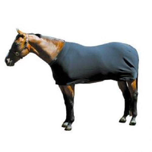 Sleazy Sleepwear Navy Horse Body Sheet with Rear Leg Straps and Fleece Lined Adjustable Neck (X-Large 84''-88'') by Sleazy Sleepwear
