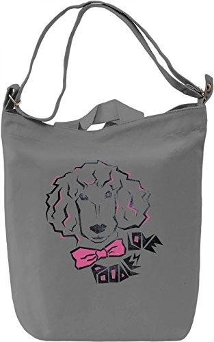 Love Poodles Borsa Giornaliera Canvas Canvas Day Bag  100% Premium Cotton Canvas  DTG Printing 