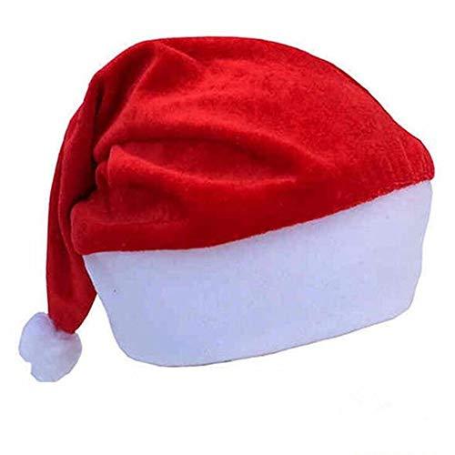 4-Pack Santa Hat Classic Red Christmas Hat Children Costume Velvet Hat for Party Xmas Ornament Cap