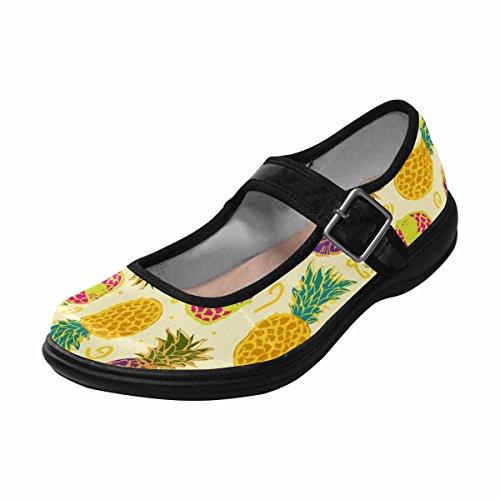 InterestPrint Womens Comfort Mary Jane Flats Casual Walking Shoes Multi 14 n6mpqci