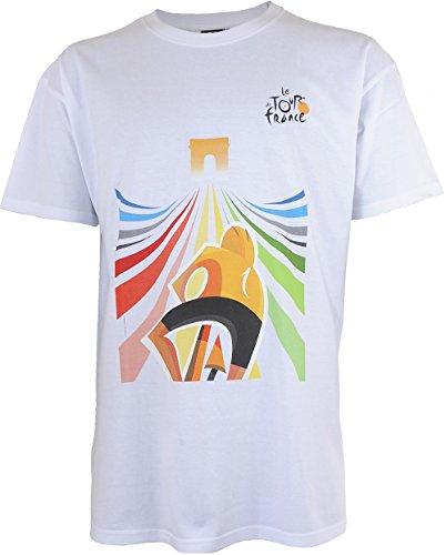 Torre di Francia tdf-sa-3081S Maglietta Adulto Uomo, bianco, FR: S (taglia produttore: S)
