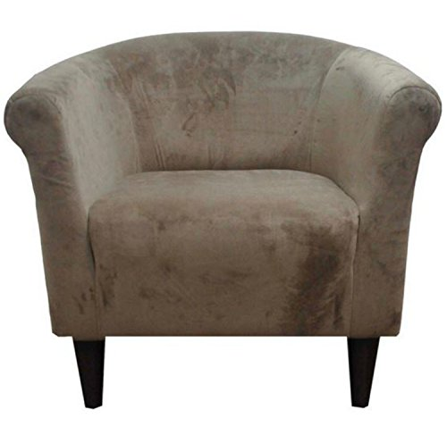 Zipcode Contemporary Barrel Chair - This Microfiber Upholstered Club Seat Is Perfect For Your Living or Bedroom -This Accent Furniture Is Made of Wood and Foam -Satisfaction Guaranteed! (Coffee)