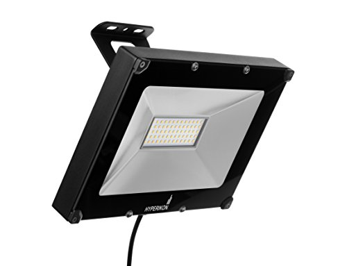 Hyperikon LED Flood Light, 50W (200W Equivalent), 4000 Lumen, 5000K (Crystal White Glow), Waterproof, IP65, 120-277v, UL-Listed