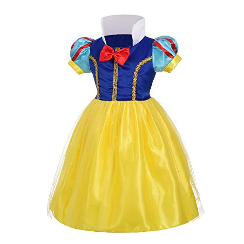 Dressy Daisy Baby-Girls' Princess Snow White Costume Fancy Dresses Up Halloween Party Size 12-18 Months ()