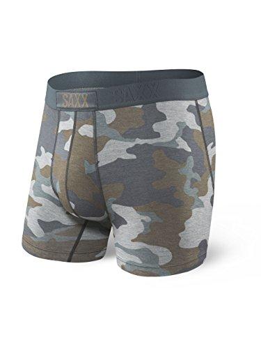 Saxx Underwear Men's Boxer Briefs - Vibe Boxer Briefs with Built-in Ballpark Pouch Support - Underwear for Men,Grey Supersize Camo,X-Large (Best Underwear In The World)