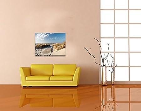 Visario Bild 100x50cm Ozean Herz  Insel 5 Teile Coffee Bild 6409 /> Markenware