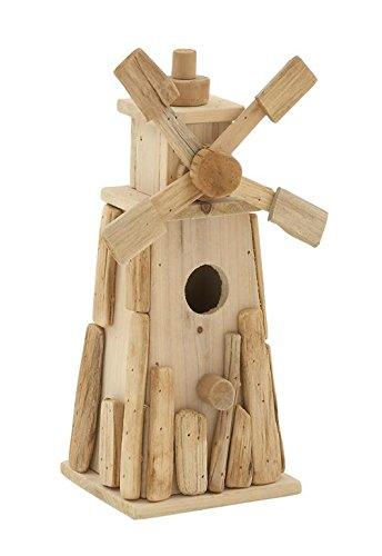 "Deco 79 76477 Driftwood Bird House 8""W, 14""H -"