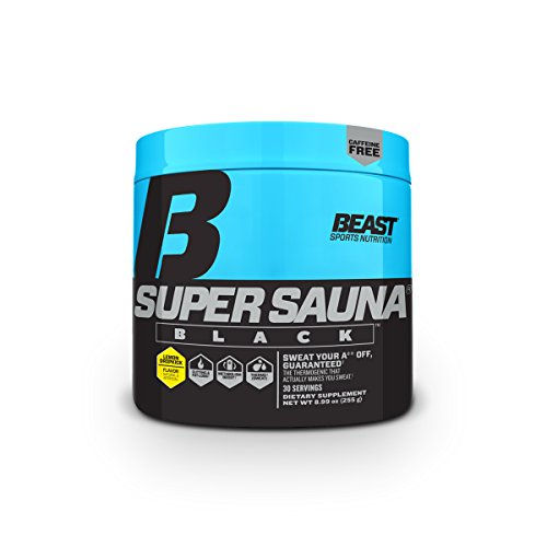 Beast Sports Nutrition Super Sauna: Non-Stim/Caffeine Free Thermogenic Drink for Fast Weight Loss, Metabolism Booster, Sweat Enhancer, Fat Burner with Grains of Paradise, Lemon Dropkick, 30 Scoops