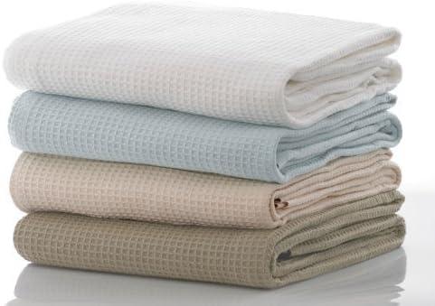 Colcha Cobertor De Sabanas 100 % Algodón Ondulado Diseño Manta Individual Tamaño en Blanco 170cm x 220cm: Amazon.es ...