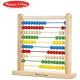 "Melissa & Doug Abacus Classic Wooden Toy, Developmental Toy, Brightly-Colored Wooden Beads, 8 Extension Activities, 11.9"" H x 12"" W x 3"" L"