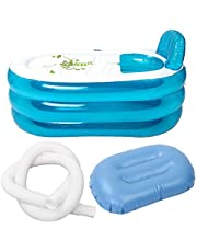 Mainstayae Portable Foldable PVC Thickened Inflatable Bathtub Home Camping Travel Bath Tub for Adult and Child