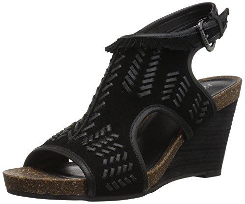 Sandals Suede Aerosoles (Aerosoles Women's Waterfront Wedge Sandal, Black Suede, 8 M US)
