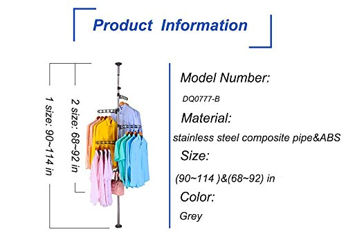 4 Layer Floor To Ceiling Adjustable Corner Coat Hanger
