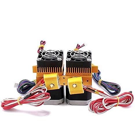 12 V 0,4mm de doble cabeza de impresión MK8 Makerbot Extrusora ...