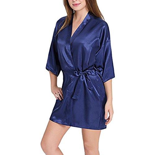 Abito Matrimoni Donna Indumento Accappatoio Indumento da Sexy de Kimono Chemise Robe per Deep Giapponese notte Blue Camicia Chambre FuweiEncore aw7qBda