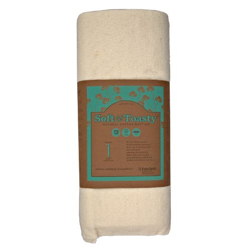 - Fairfield SNTY4505 Soft and Toasty Natural 100-Percent Cotton Batting, Low Soft, 45-Inch, 5 Yard Roll