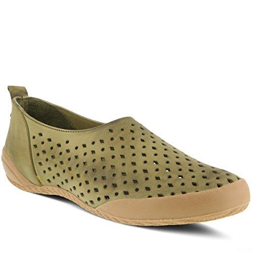 Spring Step Women's HENA Boat Shoe, Olive Green, 37 M EU (US 6.5-7 US) (Spring Step Olive)