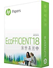 HP Printer Paper | 8.5 x 11 Paper | EcoFFICIENT 18 lb | 1 Ream - 500 Sheets | 92 Bright | Made in USA - FSC Certified | 088369R