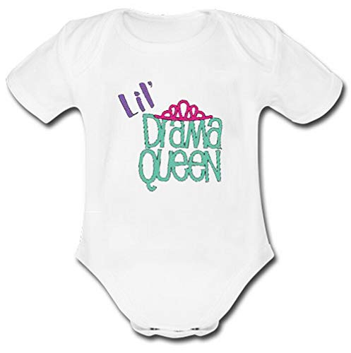 (BXBCASEHOMEMAT Personalized Name Drama Queen Baby Clothes White)