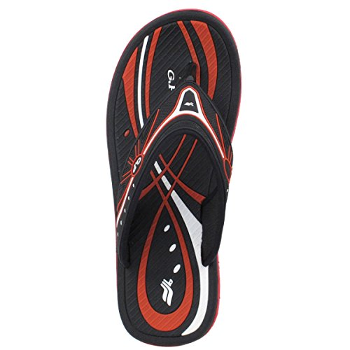 Gold Pigeon Shoes GP5810 Durable Heavy Duty Unisex Heavy Duty Outdoor Water Flip Flops Black Red-6895 (Prime Free Shipping) fLdOO