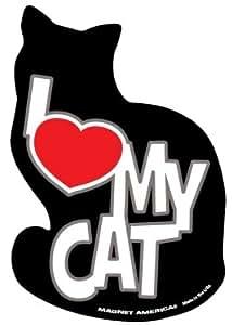Amazon.com: I Love My Cat Magnet: Automotive