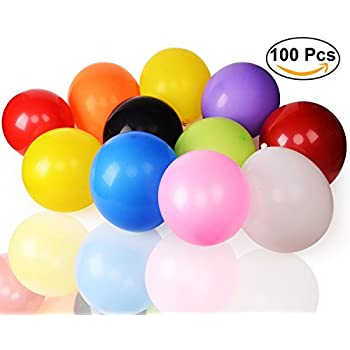 Party Balloons,Aplstar Assorted Colors Latex Balloons,12 Inches(100Pcs)