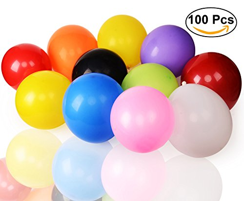 Yellow Assorted Balloon - Aplstar Party Balloons, Assorted Colors Latex Balloons,12 Inches(100Pcs)