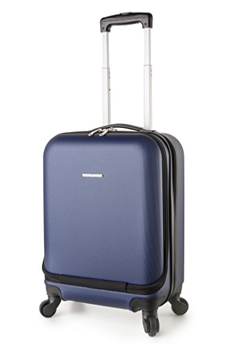 TravelCross Boston 21'' Carry On Lightweight Hardshell Spinner Luggage - Dark Blue - Handle Boston Bag