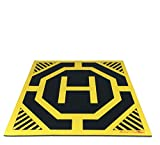 Ultra Sleek and Stylish RC Remote Control Helicopter Drone Landing Pad Helipad 12-inch by 12-inch - Made for Small Drones