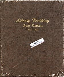 Dansco Coin Album #7161 for Walking Liberty Half Dollars: 1941-1947 (Walking 1944)