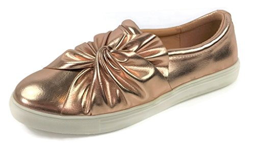 Jamie Slip On Sneakers - Trendy Shoes - Comfortable Closed Toe, Jamie Rose Gold, 9 - Jamie Rose