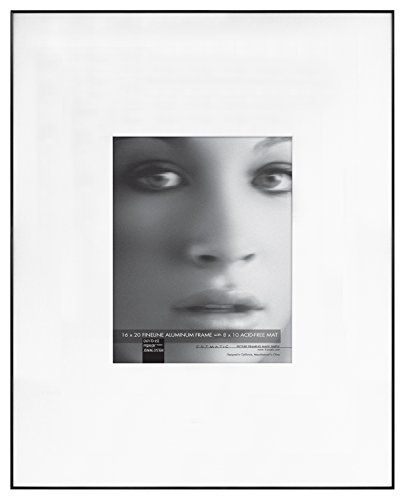 Framatic Fineline 16x20 Inch Aluminum Frame Matted to 8x10 I