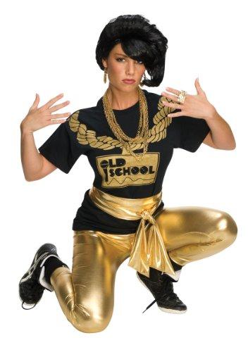 Best Old School Halloween Costumes (Rubie's Costume Rap Girl Wig, Black, One Size)