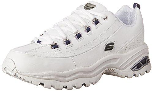Skechers Sport Women's Premiums Sneaker,White/Navy,10 M -