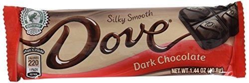 Dove Dark Chocolate Silky Smooth: 18 Bars of 1.44 Oz