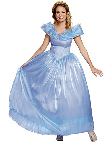 Disney Women's Cinderella Movie Ultra Prestige Adult Costume, Blue, Medium -