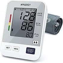 Tensiómetro de Brazo, HYLOGY Tensiómetro de Brazo Digital, 2 Memorias de Usuario(2 * 90), Escala de Colores de Semáforo de
