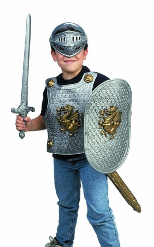 Small World Toys Imaginative Play - Knight in Shining Armor Silver Color